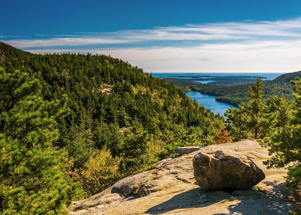 """<p><strong>Best camping in Maine:</strong> Blackwoods Campground, Acadia National Park</p> <p>Snuggled into a lush forest of spruce and hemlock, Blackwoods Campground provides a centrally located shady solace for adventure seekers in <a href=""""https://www.cntraveler.com/story/maine-acadia-national-park-car-free?mbid=synd_yahoo_rss"""" rel=""""nofollow noopener"""" target=""""_blank"""" data-ylk=""""slk:Acadia"""" class=""""link rapid-noclick-resp"""">Acadia</a>. Climb Cadillac Mountain for a spectacular sunrise show, dip your feet into the water at Sand Beach, and marvel at the craggy coastal headland of Otter Point.</p>"""