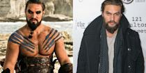 "<p>He may not have the same tattoos, eyeliner, and stylized facial hair as his <em><a href=""https://www.goodhousekeeping.com/life/entertainment/g3367/game-of-thrones-cast-in-real-life/"" rel=""nofollow noopener"" target=""_blank"" data-ylk=""slk:Game of Thrones"" class=""link rapid-noclick-resp"">Game of Thrones</a></em> counterpart, but actor Jason Momoa is just as hot as Khal Drogo.</p>"