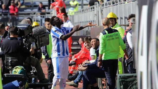 Sulley Muntari claims the referee's failure to take action against racist chants led to him leaving a Serie A match in protest.