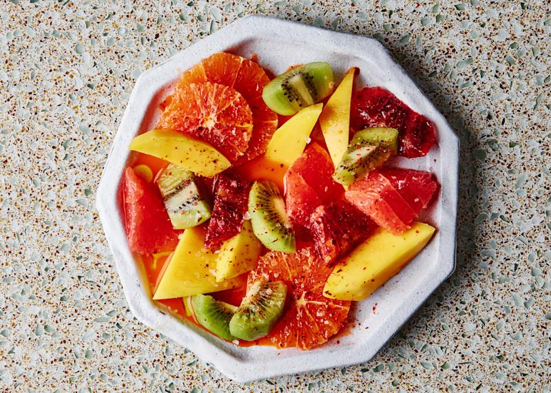 """Feeling under the weather? This superfruit salad will give you the jolt of vitamins you need to get back on the path of recovery. <a rel=""""nofollow"""" href=""""https://www.bonappetit.com/recipe/vitamin-c-superfruit-salad?mbid=synd_yahoo_rss"""">See recipe.</a>"""