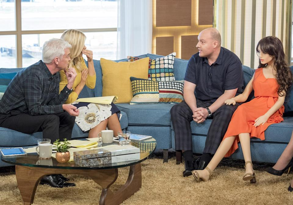 Holly Willoughby, Phillip Schofield, Arran Lee Wright and 'Samantha'