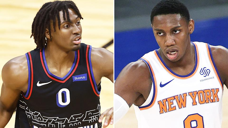 Tyrese Maxey and RJ Barrett