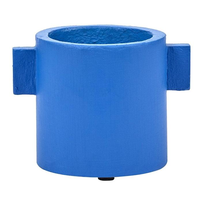 """The hint of blue we hinted at, in a compact sculptural shape. $28, Amara. <a href=""""https://www.amara.com/us/products/concrete-round-pot-blue-small"""" rel=""""nofollow noopener"""" target=""""_blank"""" data-ylk=""""slk:Get it now!"""" class=""""link rapid-noclick-resp"""">Get it now!</a>"""
