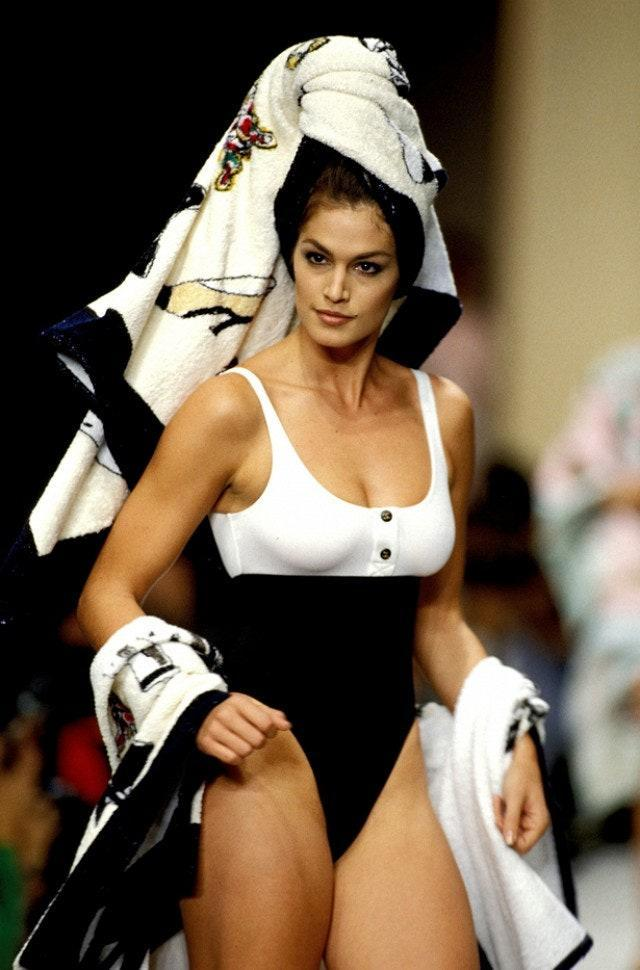 Cindy Crawford during the Chanel 1993 show
