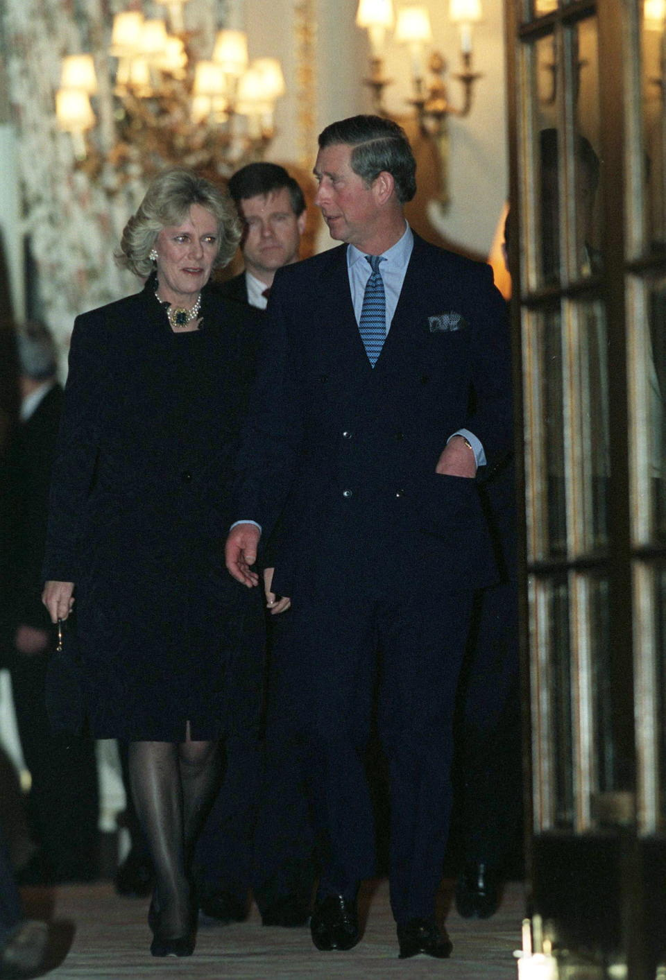 The pair were photographed leaving The Ritz in London in 1999 [Photo: Getty]