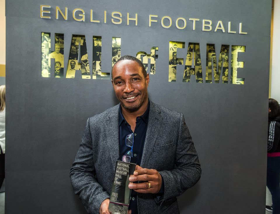 Ince was inducted into the National Football Museum's Hall of Fame on Tuesday (National Football Museum handout)