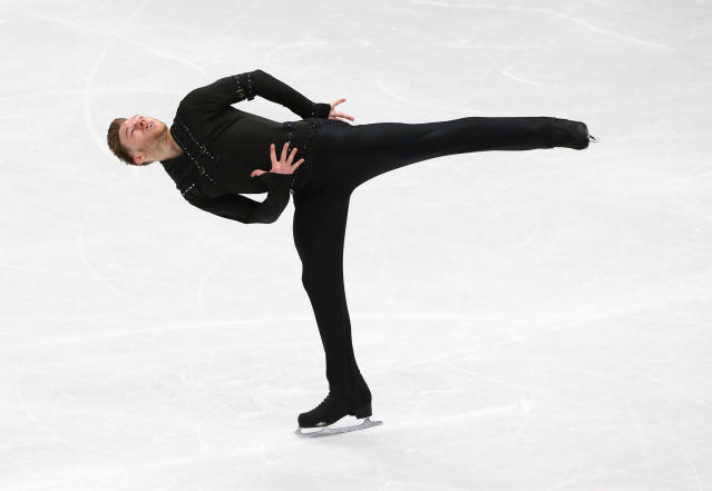 Figure Skating - World Figure Skating Championships - The Mediolanum Forum, Milan, Italy - March 22, 2018 Britain's Phillip Harris during the Men's Short Programme REUTERS/Alessandro Bianchi