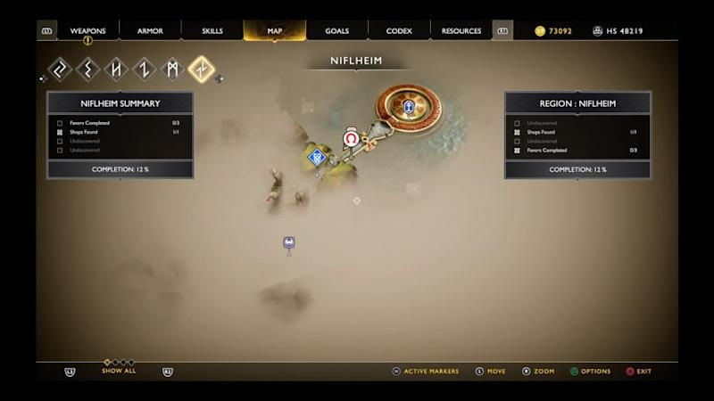 God of war Niflheim map