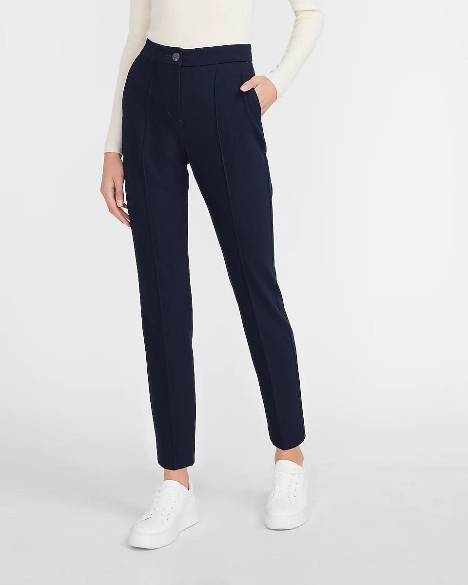<p>These <span>Express High Waisted Seamed Front Ankle Pants</span> ($80) will add a pep in your step thanks to the sleek and modern silhouette. They're flattering and laid-back enough to either dress up or down.</p>