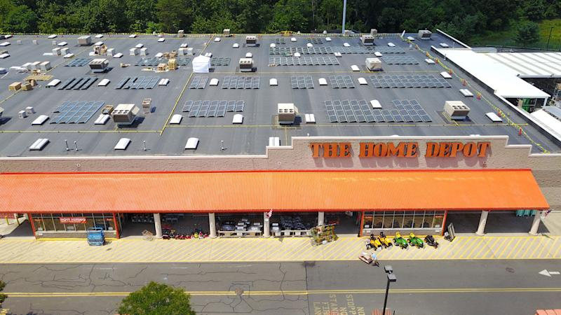 Home Depot turning 50 store rooftops into solar farms