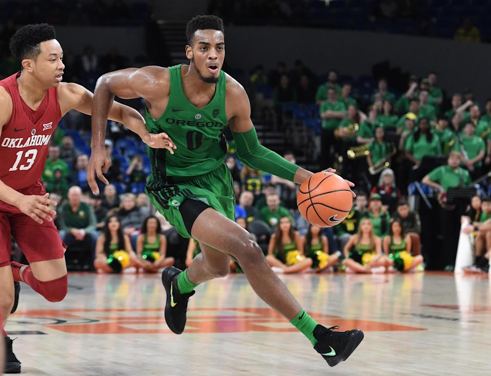 Troy Brown Jr. starred at Oregon and will have a pro day May 31 in his hometown of Las Vegas. (Getty)