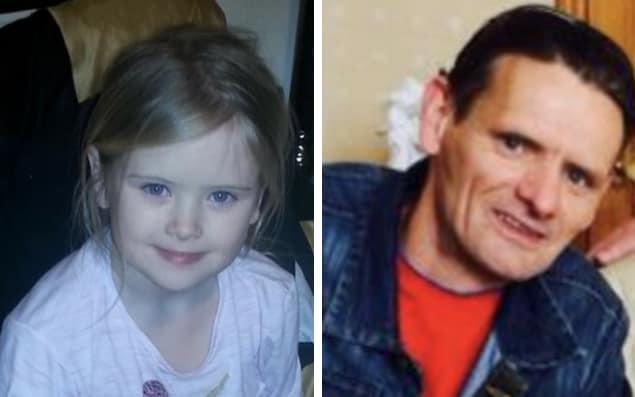 Mylee Billingham, left, died on Saturday night. Her father, Bill Billingham, has been arrested on suspicion of murder
