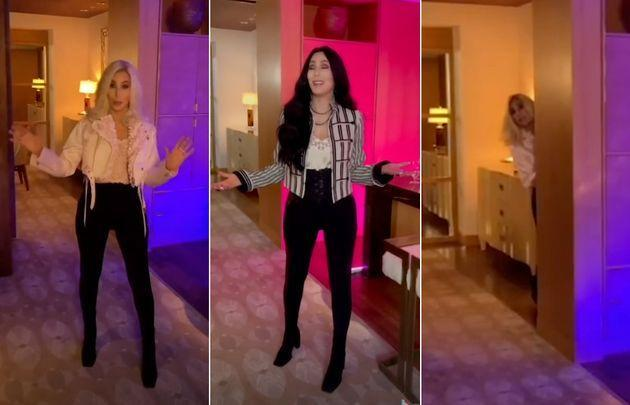 Cher's TikTik debut is every bit as gloriously camp as we were hoping (Photo: TikTok/Cher)
