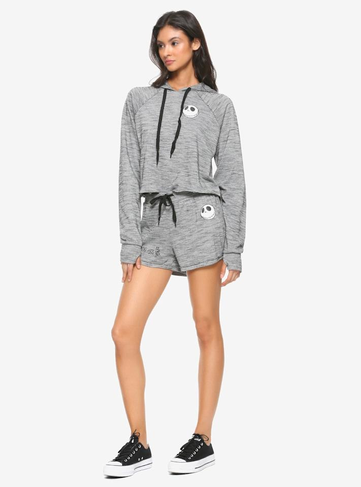 "<p>Give your loungewear an upgrade with these <a href=""https://www.hottopic.com/product/the-nightmare-before-christmas-grey-black-girls-soft-shorts/11910233.html?cgid=pop-culture-shop-by-license-nightmare-before-christmas#sz=188&amp;start=68"" target=""_blank"" class=""ga-track"" data-ga-category=""Related"" data-ga-label=""https://www.hottopic.com/product/the-nightmare-before-christmas-grey-black-girls-soft-shorts/11910233.html?cgid=pop-culture-shop-by-license-nightmare-before-christmas#sz=188&amp;start=68"" data-ga-action=""In-Line Links""><b>The Nightmare Before Christmas</b> Grey &amp; Black Girls Soft Shorts</a> ($16, originally $20).</p>"