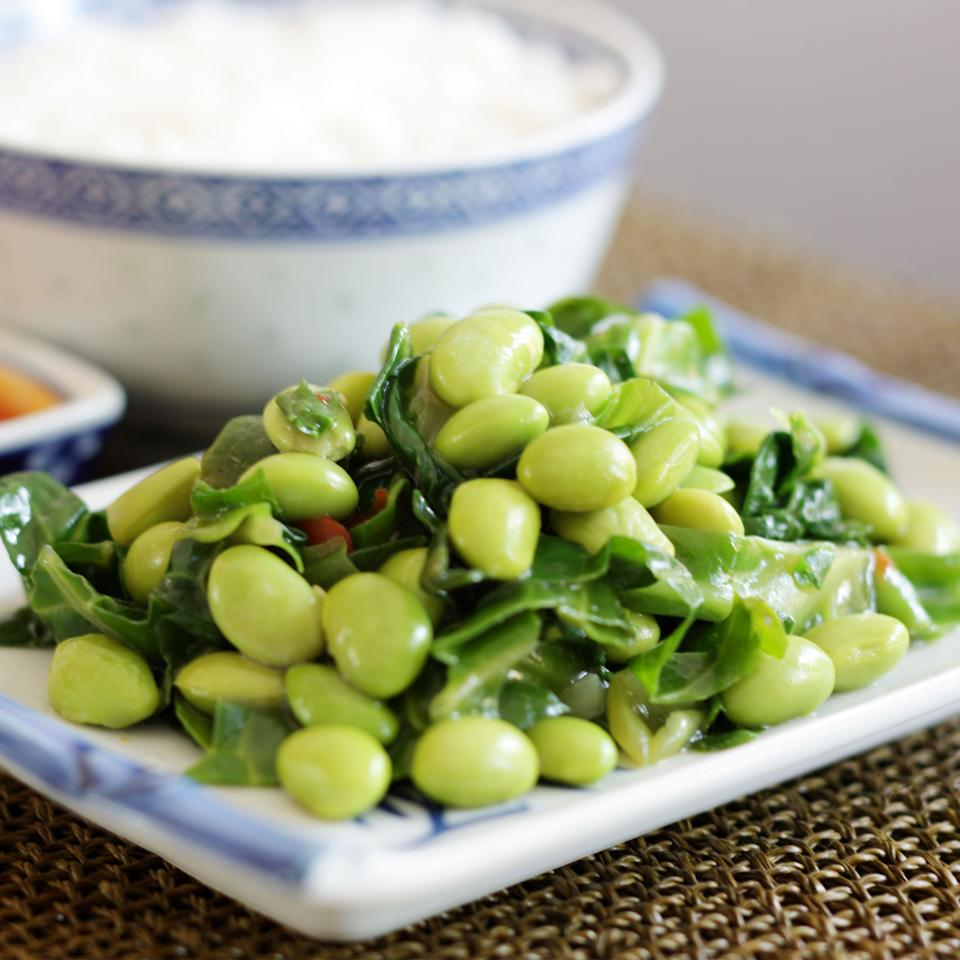 5:2 Diet: Fast Day Lunch - Pea, Feta, Mint And Soya Bean Salad Recipe