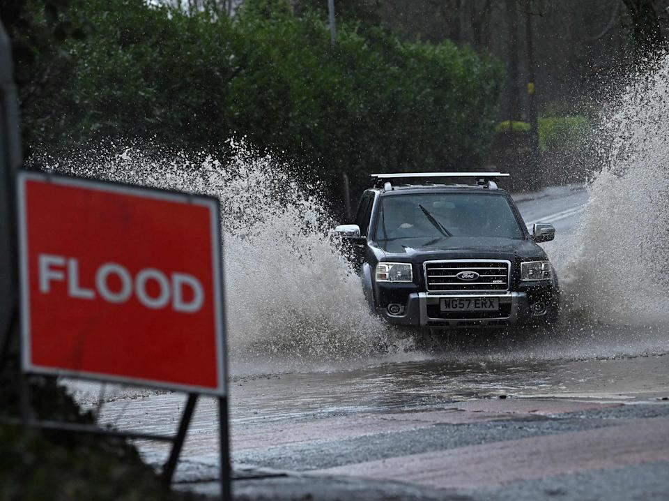 Thousands of homes are being evacuated in parts of the UK due to flooding caused by Storm Christoph (Paul Ellis/AFP via Getty Images)