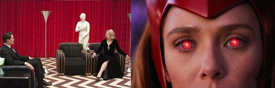 The Red Room in Twin Peaks, juxtaposed with the red power of the Scarlet Witch.