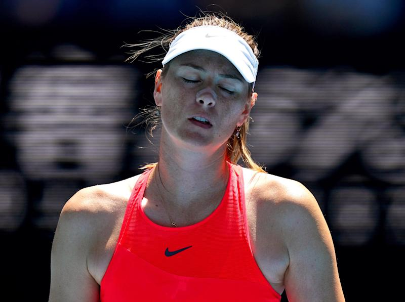 Maria Sharapova has crashed out of the Australian Open: Getty
