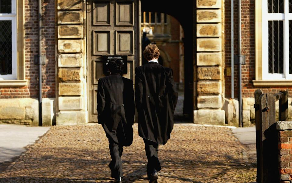 Pupils at Eton College hurry between lessons - Graeme Robertson/Getty Images