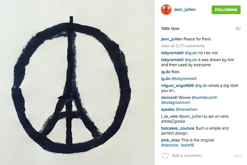 Artists Simple Peace For Paris Drawing Is The Internets Symbol