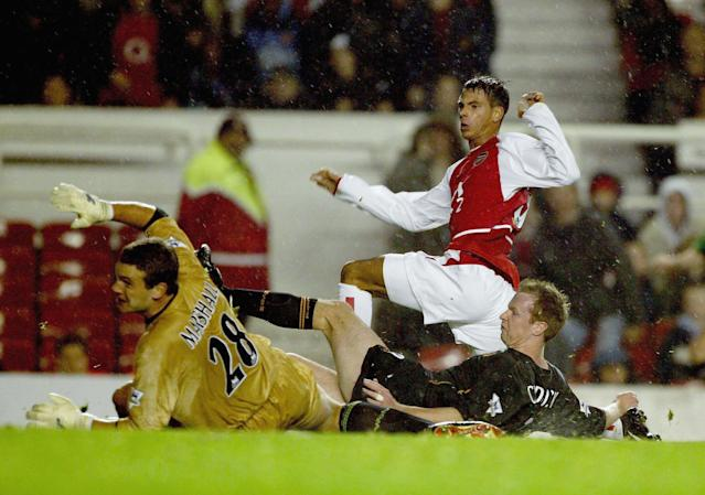 <p>Aliadiere was one of the less memorable members of Arsenal's Invincibles squad, not really contributing. In mitigation to him, though, he had a hell of a task displacing Henry and Bergkamp from Arsene Wenger's side. </p>