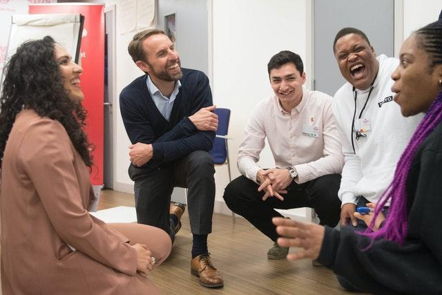 England manager Gareth Southgate during a programme session for the Prince's Trust Future Leaders campaign launch