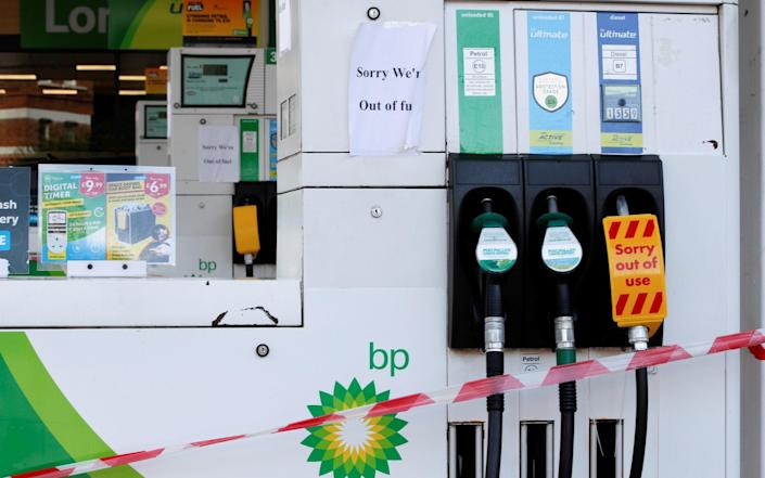 A rush to fill up at the pumps has seen many forecourts run out of fuel