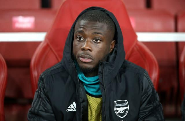 Nicolas Pepe says Arsenal's players should take responsibility for their slump in form (Nigel French/PA)