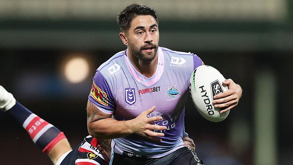 Pictured here, Shaun Johnson in action for the Sharks in 2021. Pic: Getty