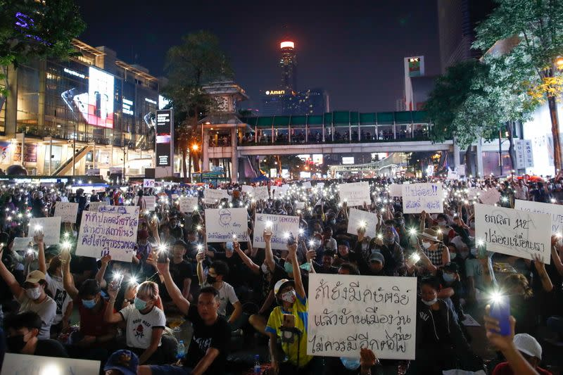 Pro-democracy protest in Bangkok
