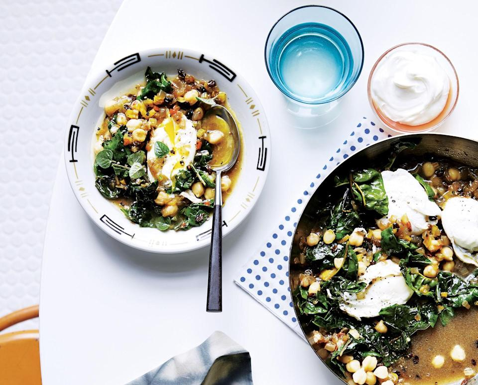 """<a href=""""https://www.bonappetit.com/recipe/chickpeas-and-chard-with-poached-eggs?mbid=synd_yahoo_rss"""" rel=""""nofollow noopener"""" target=""""_blank"""" data-ylk=""""slk:See recipe."""" class=""""link rapid-noclick-resp"""">See recipe.</a>"""