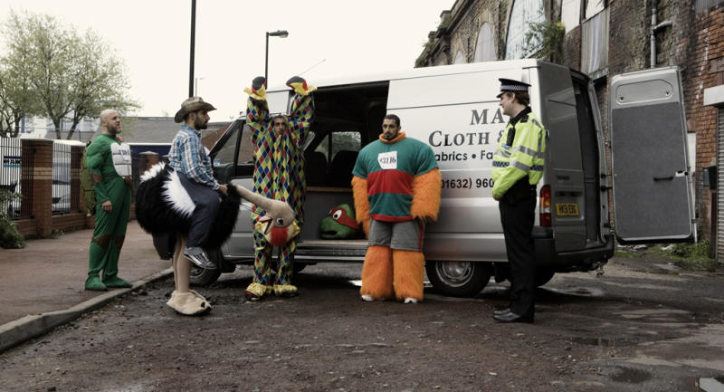 Nigel Lyndsay, Kayvan Novak, Arsher Ali and Riz Ahmed in Four Lions. (Optimum Releasing)