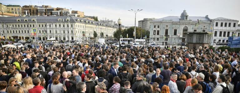An opposition rally in Moscow on Monday to demand that independent candidates be included on the ballot