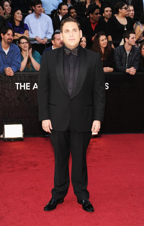Jonah Hill arrives at the 84th Annual Academy Awards in Hollywood, CA.