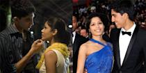 """<p><strong>The movie: </strong><span class=""""redactor-invisible-space""""><em>Slumdog Millionaire </em><span class=""""redactor-invisible-space"""">(2008)</span></span></p><p>The on-screen couple fell in love on the set of the Oscar-winning movie, and spent seven years together before splitting in 2014.</p>"""