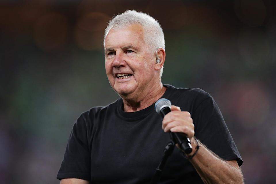 Daryl Braithwaite performs during the 2019 NRL Grand Final match