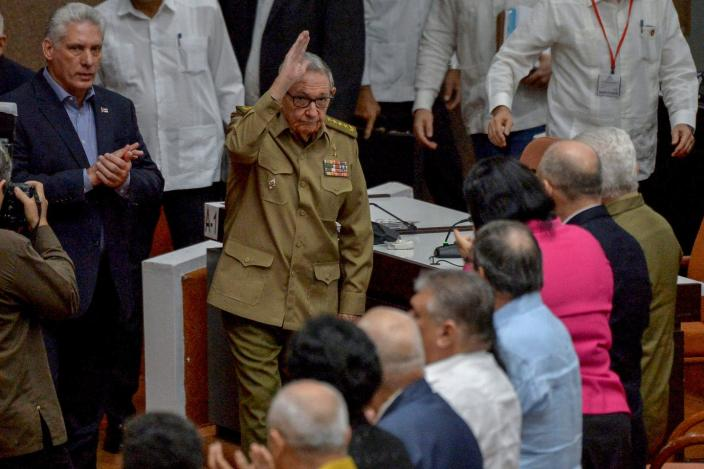 """<span class=""""caption"""">With Raul Castro's resignation as first secretary of the Communist Party, the Castro era is officially over in Cuba.</span> <span class=""""attribution""""><a class=""""link rapid-noclick-resp"""" href=""""https://www.gettyimages.com/detail/news-photo/cuban-first-secretary-of-the-communist-party-and-former-news-photo/1189655929?adppopup=true"""" rel=""""nofollow noopener"""" target=""""_blank"""" data-ylk=""""slk:Yamil Lage/AFP via Getty Images"""">Yamil Lage/AFP via Getty Images</a></span>"""
