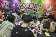 <p>A Pokémon tournament in session at the Asia Game Festival 2018.<br> (PHOTO: Don Wong) </p>