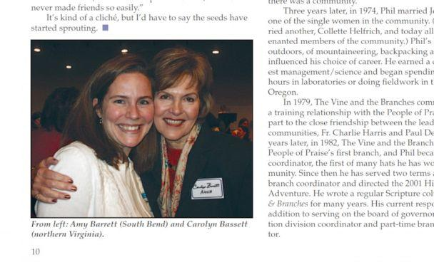 PHOTO: A photograph of Judge Amy Coney Barrett, under consideration for nomination to the Supreme Court, appeared in a May 2006 issue of 'Vine & Branches,' a publication from the People of Praise, with an article about a women's leadership conference. (Vine & Branches)