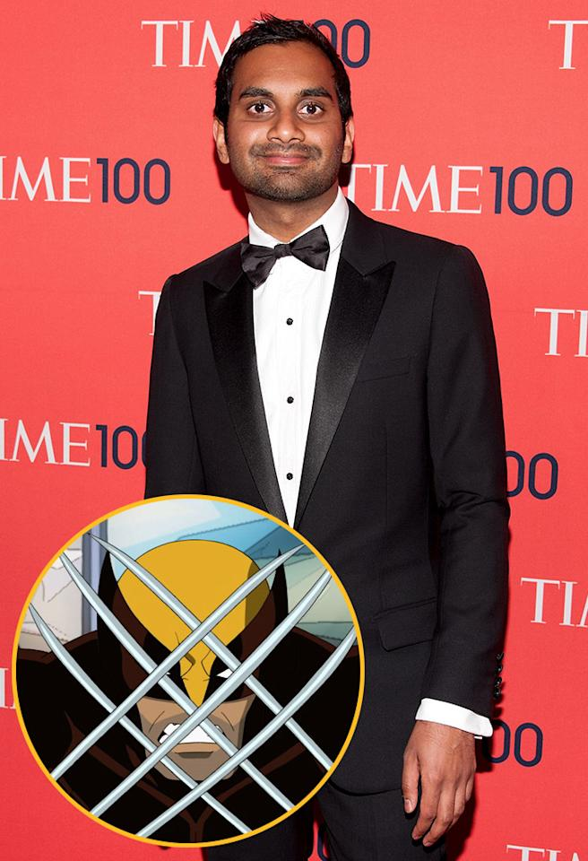"<strong>Aziz Ansari (""Parks and Recreation""):</strong> I guess I would say Wolverine. I like Magneto a lot, but he's a villain. But I like ""X-Men: First Class"" -- it was <em>so</em> good."
