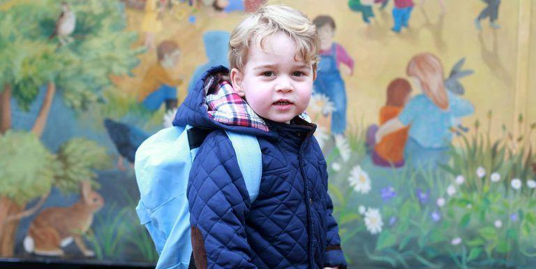 """<p>Prince George is ready for his <a href=""""https://www.harpersbazaar.com/celebrity/latest/news/a13559/prince-george-first-day-of-school/"""" rel=""""nofollow noopener"""" target=""""_blank"""" data-ylk=""""slk:first day of nursery school"""" class=""""link rapid-noclick-resp"""">first day of nursery school</a> in this portrait taken by proud mom Kate Middleton. The royal tot attended Westacre Montessori School in Norfolk, England.</p>"""