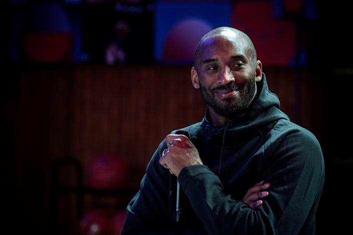 Kobe Bryant attends a promotional event organized by the sports brand Nike on Oct. 21, 2017.