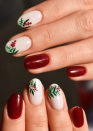 "<p>San Diego, California based <a href=""https://www.instagram.com/nailssbyjess/"" rel=""nofollow noopener"" target=""_blank"" data-ylk=""slk:nail artist Jess Smith"" class=""link rapid-noclick-resp"">nail artist Jess Smith</a> painted this chic Christmas holly look that's easy to recreate at home with a nail art tool kit.</p><p><a class=""link rapid-noclick-resp"" href=""https://go.redirectingat.com?id=74968X1596630&url=https%3A%2F%2Fwww.ulta.com%2Fnail-art-tool-kit%3FproductId%3DxlsImpprod5190147%26sku%3D2255783&sref=https%3A%2F%2Fwww.oprahmag.com%2Fbeauty%2Fg34113691%2Fchristmas-nail-ideas%2F"" rel=""nofollow noopener"" target=""_blank"" data-ylk=""slk:SHOP NAIL ART TOOL KIT"">SHOP NAIL ART TOOL KIT</a></p>"