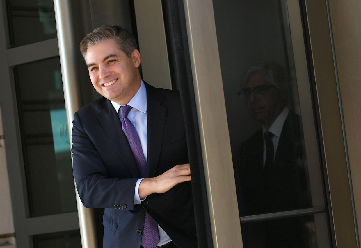 CNN White House correspondent Jim Acosta leaves U.S. District Court in Washington, D.C., on Friday. (Photo: Mandel Ngan/AFP/Getty Images)