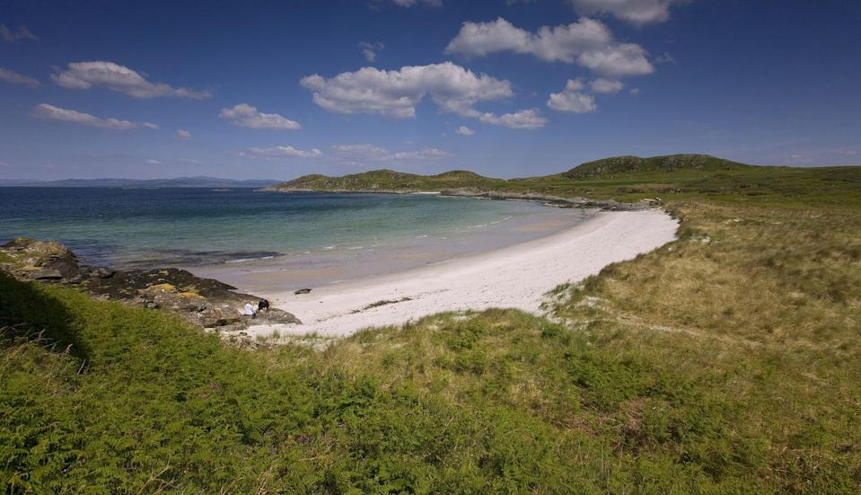 """<p>Tiny Gigha (pronounced 'Gee'a') is the 'Good Isle' of the Hebrides, and is owned by the islanders themselves. The community here has been growing since the island was bought by its inhabitants back in 2002. </p><p>With a warm microclimate, Gigha is perfect for holidays taking in the sandy beaches and clear turquoise seas. Achamore House, set in over 50 acres of woodland gardens, has a renowned Rhododendron and Camellia Collection and exotic plants that are beautiful year-round.</p><p><strong>Experience island hopping in the Hebrides with Good Housekeeping.</strong></p><p><a class=""""link rapid-noclick-resp"""" href=""""https://www.goodhousekeepingholidays.com/tours/scotland-hebrides-islands-islay-mull-cruise"""" rel=""""nofollow noopener"""" target=""""_blank"""" data-ylk=""""slk:FIND OUT MORE"""">FIND OUT MORE</a></p>"""