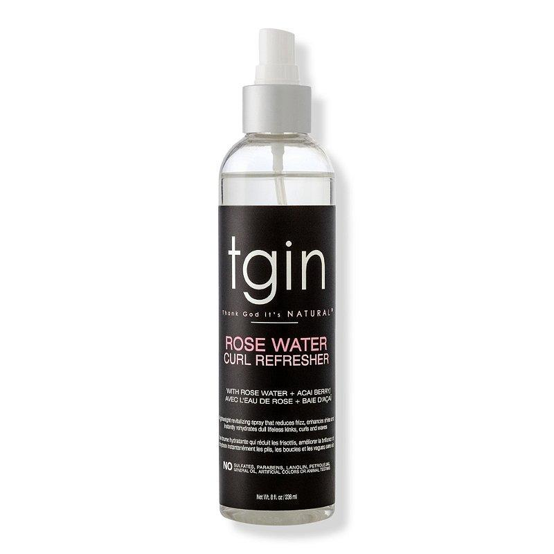 Dull, lifeless curls get a second wind with the TGIN Rose Water Curl Refresher. Enriched with hydrating rose water and coconut oil to smooth and revive overworked curls and waves, this formula has also won Redway's seal of approval for coarser hair textures. Give the moisturizer a go at the first sign of curl dry out.