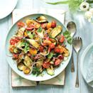 """<p>Subtly sweet and spiced, this brings a zingy freshness to the menu.</p><p><strong>Recipe: <a href=""""https://www.goodhousekeeping.com/uk/food/recipes/a570601/griddled-courgette-salad/"""" rel=""""nofollow noopener"""" target=""""_blank"""" data-ylk=""""slk:Griddled Courgettes, Tomatoes and Lemon"""" class=""""link rapid-noclick-resp"""">Griddled Courgettes, Tomatoes and Lemon</a></strong></p>"""