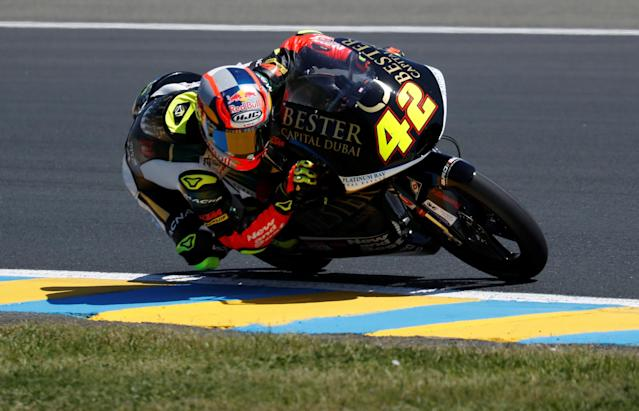 Motorcycling - Moto3 - French Grand Prix - Bugatti Circuit, Le Mans, France - May 19, 2018 Bester Capital Dubai's Marcos Ramirez during qualifying REUTERS/Gonzalo Fuentes