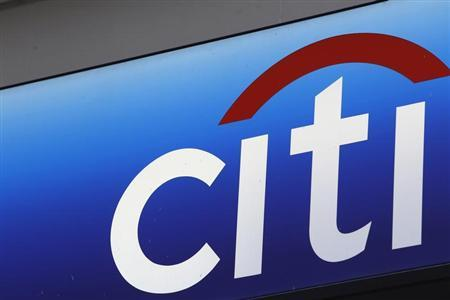 A Citibank sign on bank branch in midtown Manhattan in New York