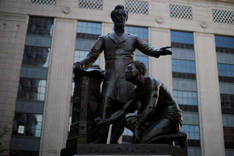 Boston officials vote to remove statue of Lincoln and enslaved Black man